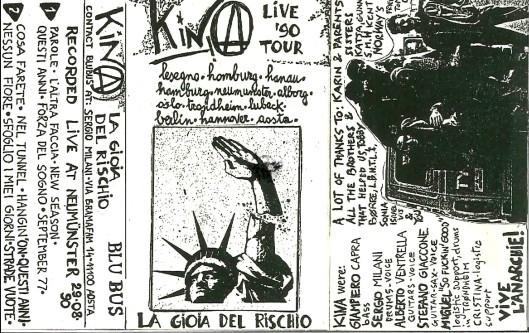 Kina - La gioia del rischio (cover, demotape 1990)
